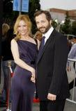 Лесли Mann и Judd Apatow Стоковая Фотография