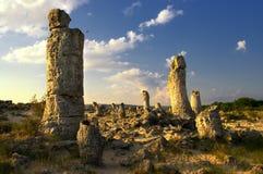 Лес камня явления природы, kamani Болгарии/Pobiti/ Стоковая Фотография
