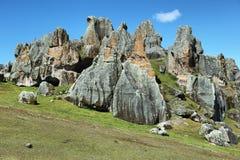 Лес камня Hatun Machay в Ancash Перу Стоковые Изображения RF