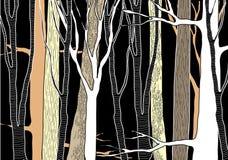Лес нарисованный рукой глубокий Стоковые Фотографии RF