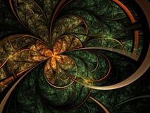 Лес-тематические цветок или бабочка фрактали Стоковое Изображение RF