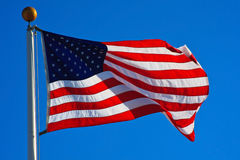 летание американского флага Стоковое фото RF