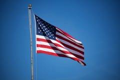 Летание американского флага Стоковое Изображение RF
