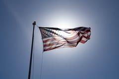 Летание американского флага Стоковые Изображения RF