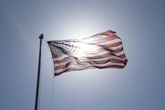 Летание американского флага Стоковое Фото