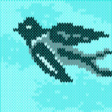 Летание ласточки на небе Стоковое Изображение