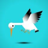 Летание белого аиста бесплатная иллюстрация