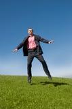 летание бизнесмена Стоковое Фото