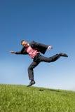 летание бизнесмена Стоковые Фотографии RF