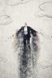Летание бизнесмена стоковое изображение rf