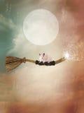 Летание веника в небе бесплатная иллюстрация