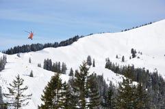Летание вертолета стоковая фотография rf