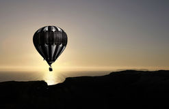 летание воздушного шара Стоковые Изображения
