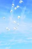 летание воздушного шара Стоковая Фотография