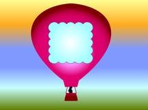 летание воздушного шара Иллюстрация вектора
