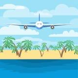 Летание воздушных судн над морем иллюстрация вектора