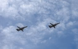 Летание в воздушных судн неба стоковые фотографии rf
