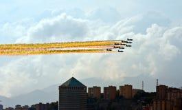 летание города сверх Стоковое Изображение RF