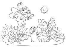 летание гусеницы милое fairy Стоковые Изображения RF