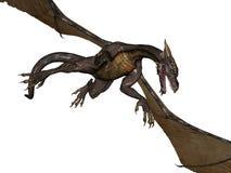 летание дракона иллюстрация штока