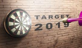 Летание дротика к dartboard с целью 2019 иллюстрация штока