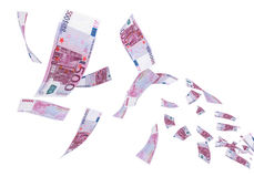 Летание евро 500 иллюстрация вектора