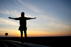 Летание девушки Стоковое фото RF