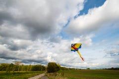 Летание змея в воздухе Стоковая Фотография RF