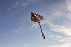 Летание змея в небе Стоковые Изображения