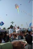 Летание змея г-ном Narendra Modi стоковая фотография rf