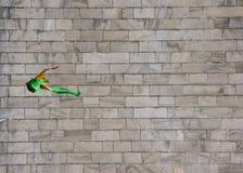 Летание змея перед памятником Вашингтона Стоковые Изображения RF