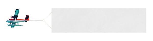летание знамени самолета Стоковая Фотография