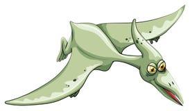 Летание динозавра в небе иллюстрация вектора