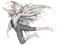 Летание мальчика зимы Fairy Стоковая Фотография