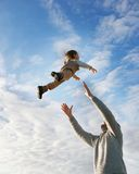 летание мальчика Стоковое фото RF