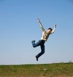 летание мальчика Стоковая Фотография RF