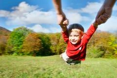 летание младенца Стоковая Фотография