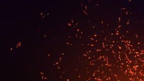 Летание огня искрится Абстрактная светлая предпосылка частиц Красные искры r иллюстрация штока
