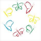 Летание покрашенное бабочками Стоковое Изображение RF