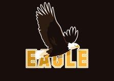 Летание птицы белоголового орлана со словом бесплатная иллюстрация