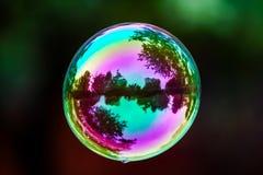 Летание пузыря мыла Стоковые Фото
