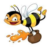 летание пчелы иллюстрация штока
