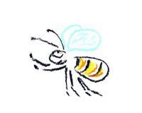летание пчелы иллюстрация вектора