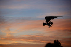 Летание планера вида в небе Стоковое Изображение