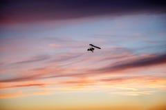 Летание планера вида в облаках Стоковая Фотография RF