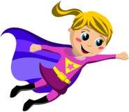 Летание ребенк супергероя иллюстрация вектора