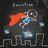 Летание ребенк супергероя бесплатная иллюстрация
