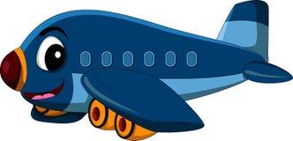 Летание самолета шаржа Стоковое Изображение