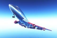 летание самолета 02 3d представляет Стоковая Фотография RF