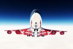 летание самолета 03 3d представляет Стоковое Фото